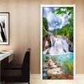 Домашний декор  Современная печать  3D холст  водопад  пейзаж  картина  художественная дверь  наклейка  холст  картина  водонепроницаемые обои...