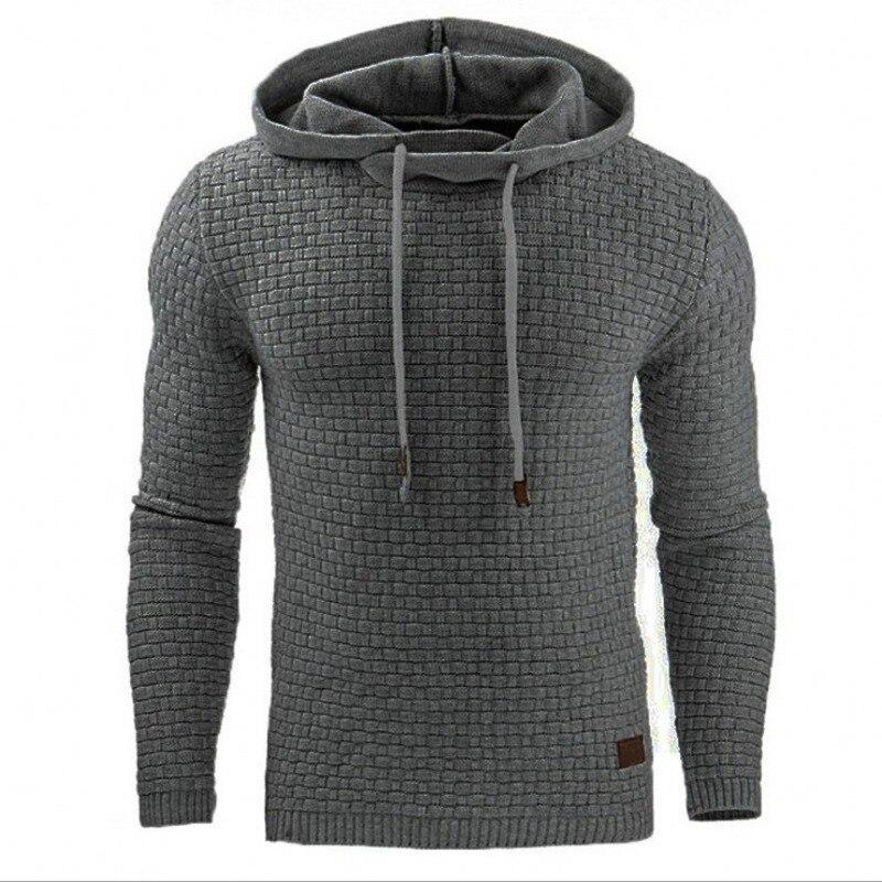 Hoodies Men 2018 Brand Male Long Sleeve Solid Color Hooded Mens Sweatshirt Mens Hoodie Tracksuit Sweat Coat Casual Sportswear