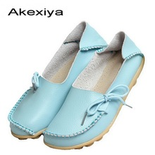 New Women Real Leather Shoes Moccasins Mother Loafers Soft Leisure Flats Female Driving Casual Footwear Size 35-42 In 16 Colors new women loafers leather shoes casual moccasins female driving fashion comfortable soft leisure women flats