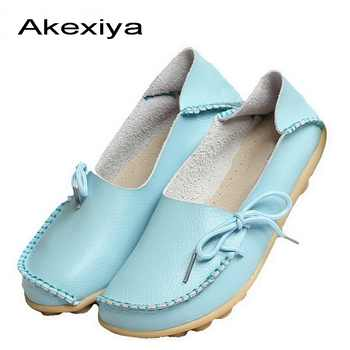Women Flats Real Leather Ladies Flat Shoes Moccasins Mother Loafers Soft Leisure Shoes Driving Casual Ballet Footwear - DISCOUNT ITEM  15 OFF Shoes