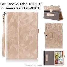 Tab3 10 Plus/negocio X70 Tab-X103f Flip cases smart Cover Para Lenovo Tab 2 Tab2 A10-70F A10-30 x30 x30f A10-70c tablets Caso