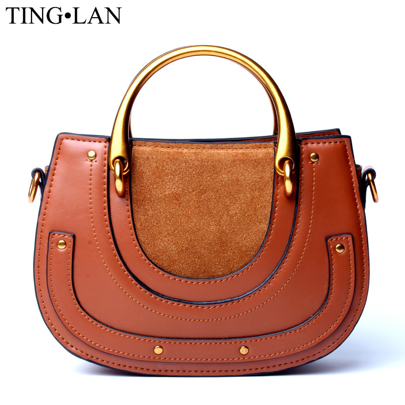 Genuine Leather Handbags Women Messenger Bags Famous Brand Designer Women Shoulder Crosssbody Bags Vintage Handbags Female Brown baby toys imax b6 ac b6ac lipo nimh 3s 4s 5s rc battery balance charger eu us uk au plug power supply wire new sale