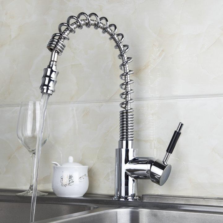 Chrome Kitchen Faucet Put Out Spout Single Handle Vessel Sink Tap Mixer Taps Kitchen waugh e put out more flags