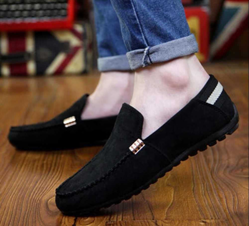2019New แฟชั่นกำมะหยี่รองเท้าอิตาเลี่ยน zapatillas hombre calzado mens Loafers calzado mocassin homme chaussure homme cuir