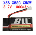 Syma X5SW X5SC X5S Spare Part 3.7V 1000Mah 25C Va32 Upgraded Lipo Battery
