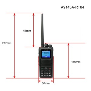 Image 4 - Retevis, 5W, RT84, DMR, Digital/Walkie, parlanchín analógico, doble banda, Radio de mano de 3000 canales, Ham, transmisor de Radio Ameur + Cable de programación