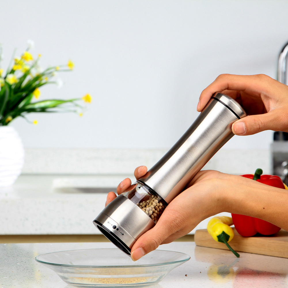Stainless Steel Manual Salt Spice Pepper Corn Pea Bean Coffee Mill Grinder muller cutter for cooking