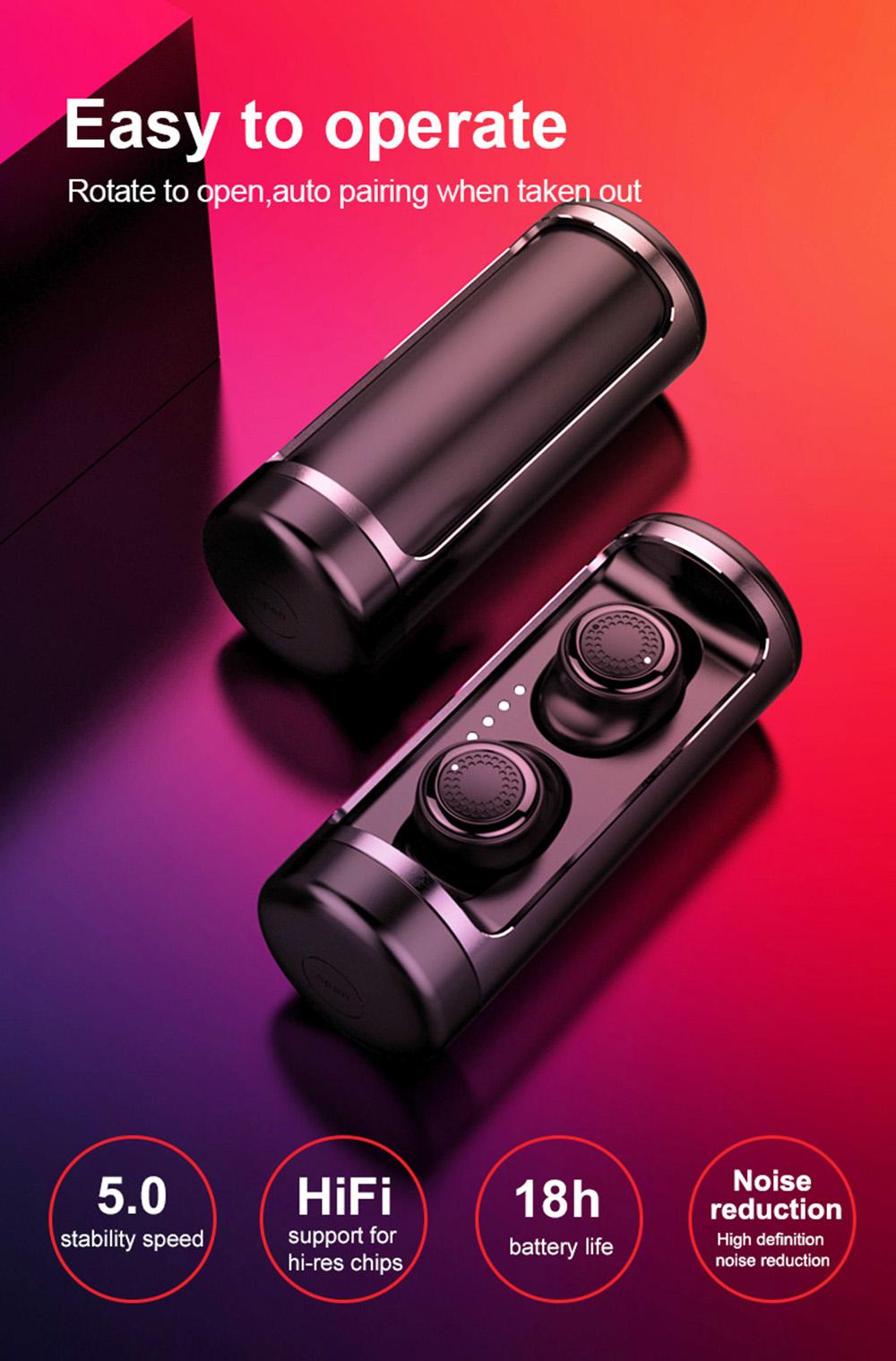 Shop OVEVO Q63 TWS HiFi Bluetooth 5 0 Earphone 3D Stereo