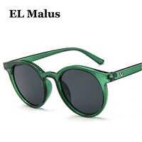 [EL Malus] nuevas gafas de sol con montura redonda para mujer gafas de sol de diseño Retro de marca Rosa verde amarillo de moda femenina para conducción al aire libre