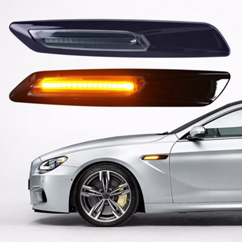1 pair For BMW E90 E91 E92 E93 Car LED Fender Side Marker Turn Signal Light for BMW E60 E61 E81 E82 E87 E88 325i 325xi 328i 525i