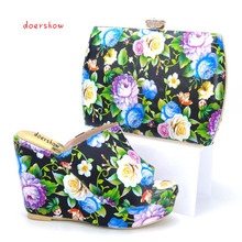 Shoes and Bag To Match Italian High Quality Matching Italian Shoes and Bag Set Women Shoes and Bag for Party doershow PYS1-4