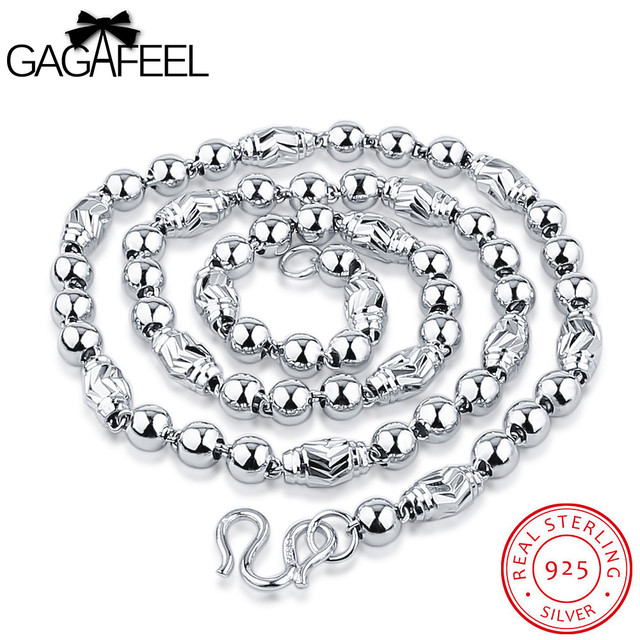 GAGAFEEL 925 Sterling Silver Necklaces For Men Women Jewelry Fashion Genuine Silver Necklaces Collares Chain 2016 Luxury Gift