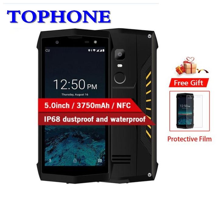 D'origine POPTEL P8 5.0 ''HD Android 8.1 mobile téléphone IP68 étanche MTK6739 Quad Core RAM 2 gb ROM 16 gb 8mp NFC 4g LTE smartphone