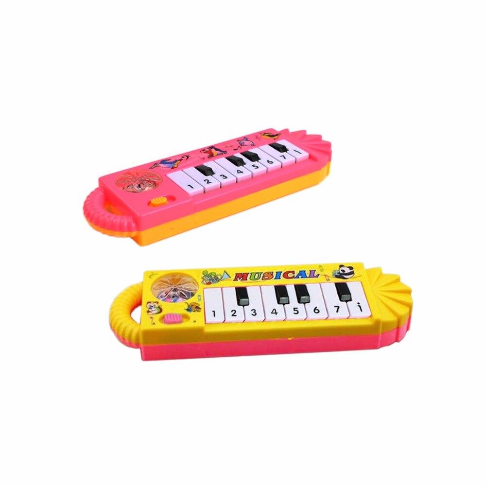 1 Pz Popolare Mini Di Plastica Tastiera Elettronica Pianoforte Strumento Musicale Del Giocattolo Del Capretto
