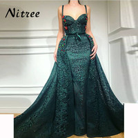 2018 African Lace Mermaid Evening Dresses Turkish Arabic In Dubai New Formal Prom Gowns Dress For Weddings Kaftan Glitter Gowns