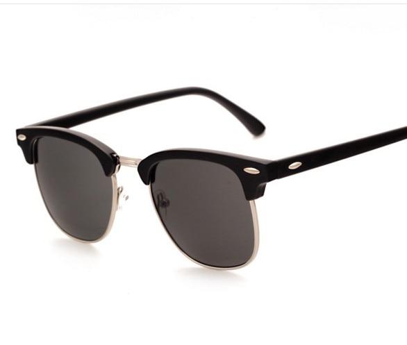 4ecb24d82c5d5 J47 نصف المعادن عالية الجودة الرجال النساء العلامة التجارية مصمم النظارات  الشمسية مرآة نظارات الشمس gafas س دي سول uv400 كلاسيكي