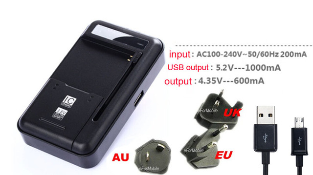 EU/US/AU/UK Desktop Cradle Mobile Phone Battery Charger+USB Data Cable For Doogee X10/Shoot 2,Leagoo M5 Edge/Z5C,Zopo Color M4