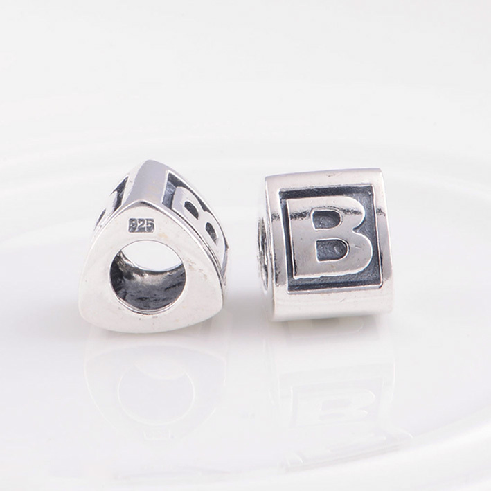 Aliexpress.com : Buy 925 Sterling Silver Jewelry Bead Alphabet Charm beads  letter B Fit Pandora Charms Bracelet DIY Jewelry from Reliable beads  letters ...