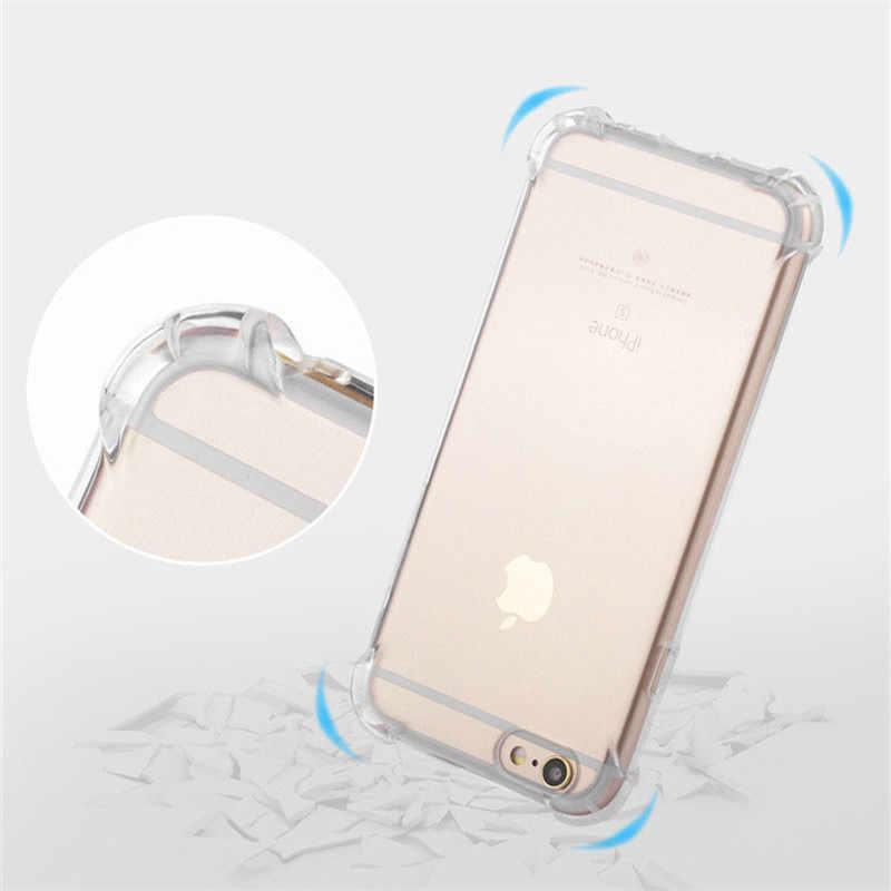 Anti-Knock gumowe etui odporne na wstrząsy dla iPhone 7 Plus X 5S SE 6 6S 8 XR XS MAX Meizu M3 uwaga M5 M5S M5C A5 E2 M6 M6T M6S etui z tpu