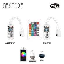 LED RGB RGBW contrôleur DC12V 24 clé wifi télécommande RF télécommande pour 3528 5050 RGB LED bandes lumineuses