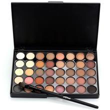 POPFEEL 40 Colors Eyeshadow Palette Glitter Matte Waterproof Makeup Eyeshadow Warm Color Pigments Eye Shadow Nude Brush Set Z3