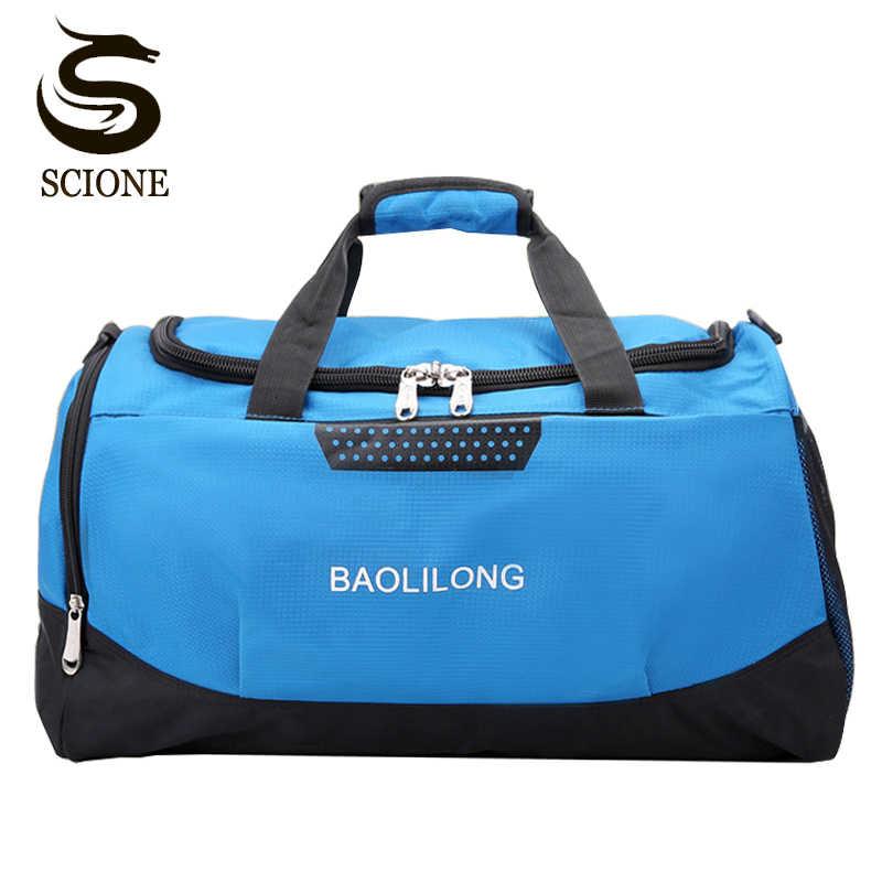 397130e14afc 2018 Профессиональная водонепроницаемая большая портативная дорожная  спортивная сумка Для мужчин/ женщин большой ёмкости путешествия