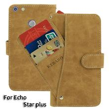 Vintage Leather Wallet Echo Star plus 5 Case Flip Luxury Card Slots Cover Magnet Stand Phone Protective Bags vintage leather wallet echo dune 5 case flip luxury card slots cover magnet stand phone protective bags
