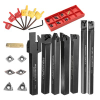 1 Set 10mm Schaft Drehmaschine Drehen Werkzeug Halter Durable mit Hartmetall Einsätze Schraubenschlüssel PAK55-in Handwerkzeug-Sets aus Werkzeug bei
