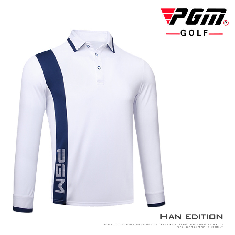 PGM Men Golf T Shirts Brand Golf Uniforms Long Sleeve Breathable Man Training Tees Winter Sports Male Shirts Golf Mens T-shirt