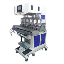 large 6-color Tampo Printer, electric tampo print machine, six color pad printing machine