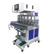 large 6-color Tampo Printer, electric tampo print machine, six color pad printing machine
