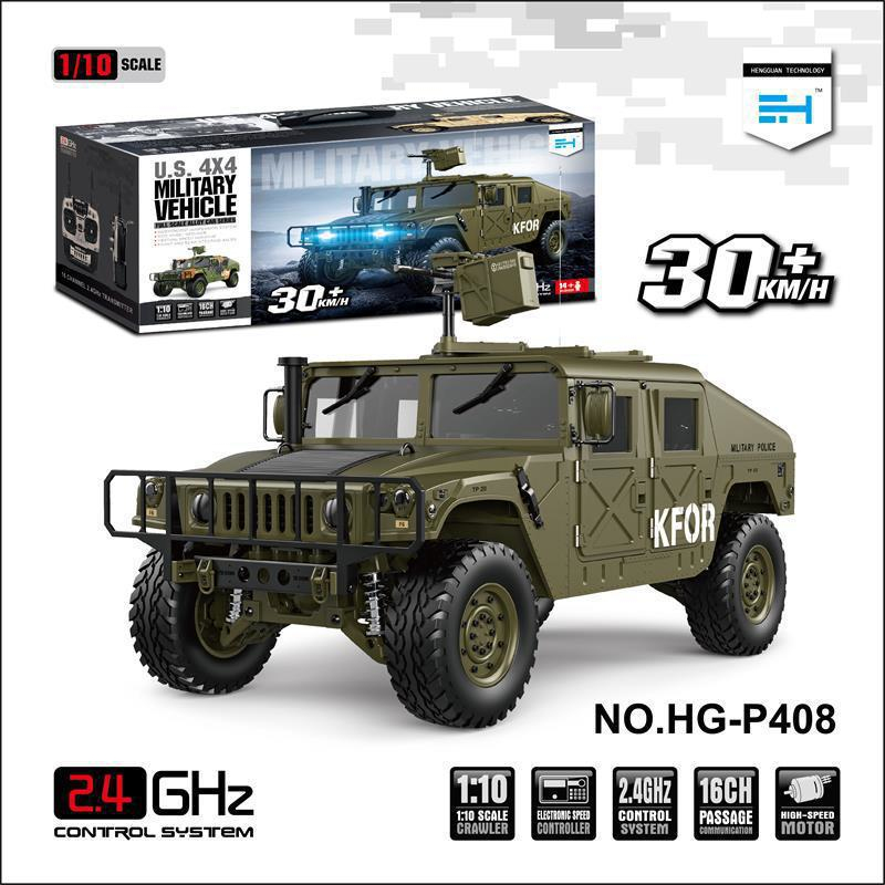 High End DIY Military RC Racing Car Model 1:10 16CH Brushless Light Sound All Terrain 60A ESC Vehicle  Remote Control Car Toy