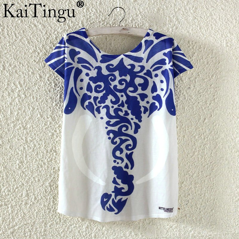 Kaitingu cute summer t shirt harajuku kawaii animal for Cute summer t shirts