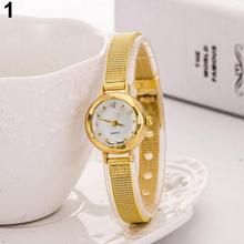 Women\'s Fashion Mesh Fine Alloy Band Rhinestone orologio donna Dial Quartz Bracelet Wrist Watch horloges vrouwen