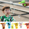 Hot Sale Mini Bubble Blaster Maker Lovely Cartoon Animal Soap Water Bubble Blower Gun Toy With Different Patterns For Children