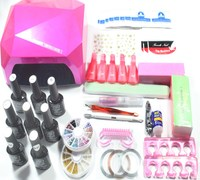 nail art set UV LED Dryer & 6 Color Gel Nail Polish Set kit Nail Tools Gel Varnish lacquer manicure tools kit