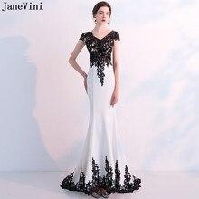 882a7da9a JaneVini 2018 Vintage Apliques de encaje de sirena vestidos para la madre  de la novia con cuello en V de mujer Formal vestido de.
