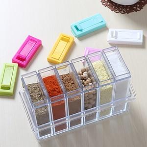 Image 1 - Juego de 2 unidades de tarros de plástico para botellas, organizador de condimentos, cajas de condimentos, cajas de almacenamiento para la cocina, accesorios para Organización del hogar