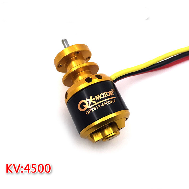 QX-MOTOR QF2611 Brushless Motor 3500KV /4500KV 55mm/64mm Ducted Fan Jet EDF 3-4S Lipo For RC Airplanes F22139/40 5 blade 64mm outrunner ducted fan 4300kv brushless motor 30a esc for lipo rc jet edf plane airplane fan