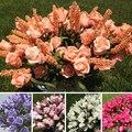 Decoração de casamento Mariage Nupcial 9 Cabeças de Lavanda Rose Festa de Decoração de Casa Flor Artificial Peônia Flores de Seda baratos