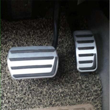 Car styling Aluminium Alloy Footboard Footrest Gas Brake Clutch Pedal Case For LINCOLN MKC /FOR MAZDA 3 auto accessories