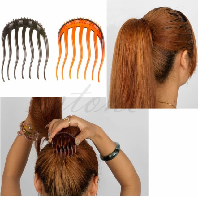 Useful Volume Inserts Hair Clip Pits Bouffant Ponytail Comb Bun Hot