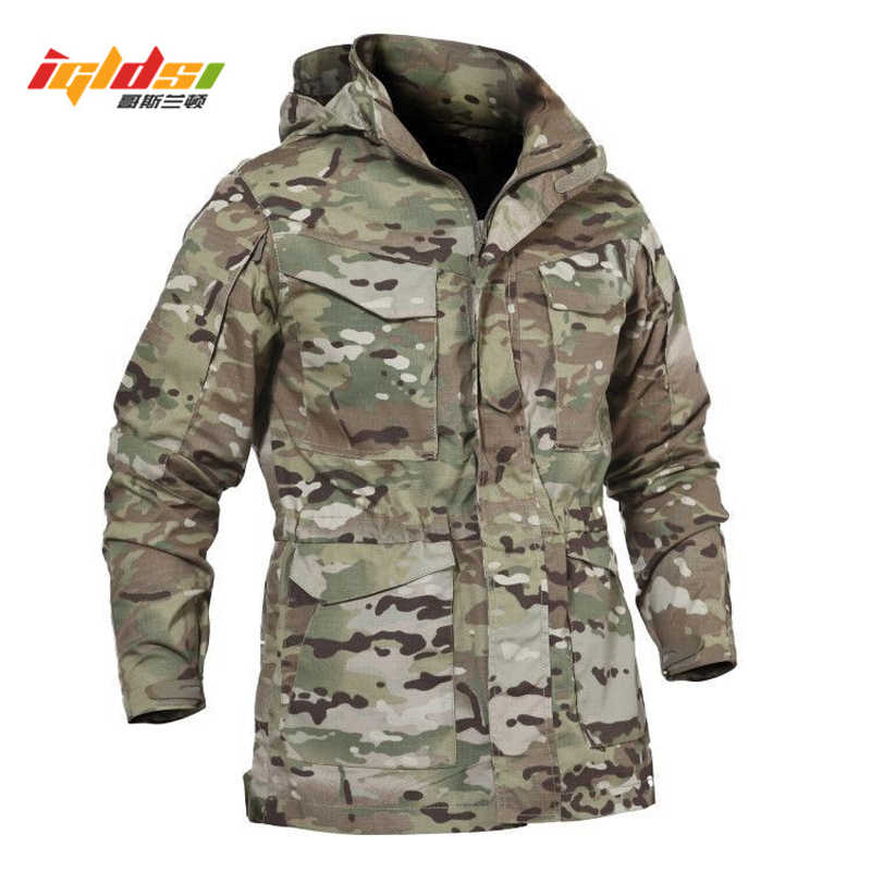 5612510c11463 Men Tactical Jacket New 2018 Spring Autumn US Army M65 Military Field Jacket  Trench Coats Hoodie