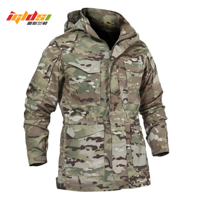 Men Tactical Jacket New 2018 Spring Autumn US Army M65 Military Field Jacket Trench Coats Hoodie Casaco Masculino Windbreaker