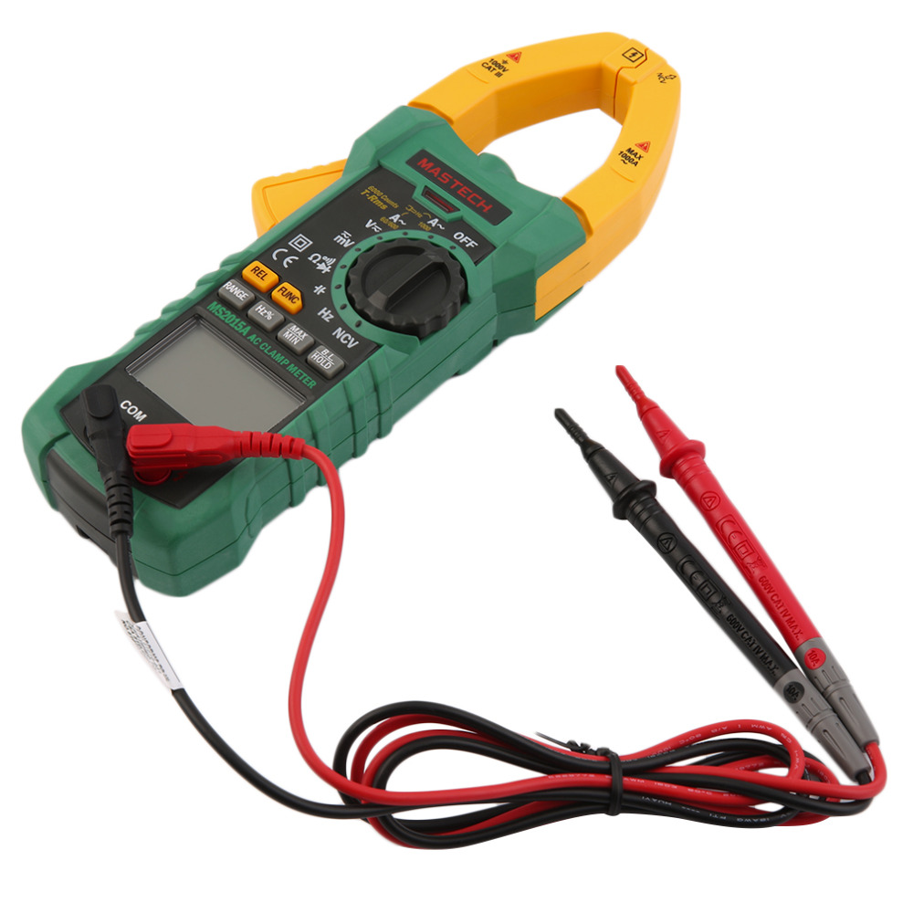 MASTECH AC DC Voltage Digital Clamp Meter Multimeter 1000A 6000 Counts Brand New eone clamp meter vc3268d panel calibration ac dc clamp multimeter