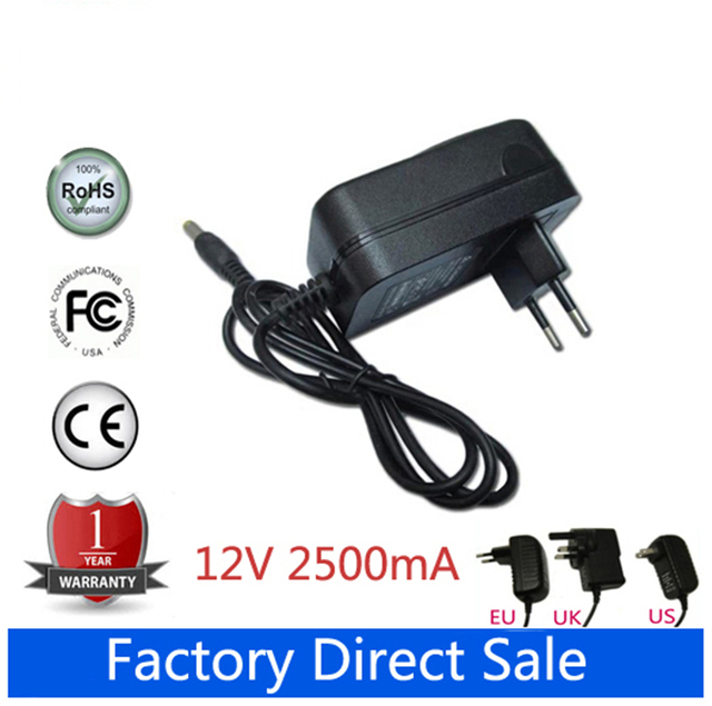 12V 2.5A AC Adapter For SONY SRS-X5 Bluetooth Wireless portable speaker system AC-S125V25A