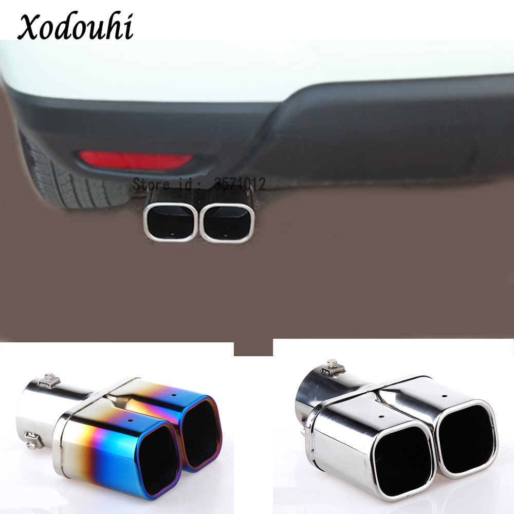 For Renault Koleos 2017 2018 2019 Car Muffler external exterior end Pipe Dedicate Stainless Steel Exhaust Tip Tail outlet 1pcs