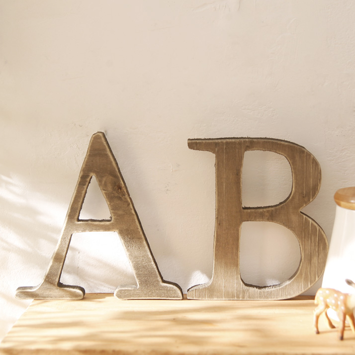 Large Wooden Signs Home Decor: Retro Finishing Wooden Letter Creative Decoration Home