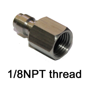 Image 5 - PCP airgun 내부 스레드 1/8 27 NPT M10 * 1 1/8BSP 남성 빠른 연결 어댑터 스테인리스 강관 니플 paintball 새로운