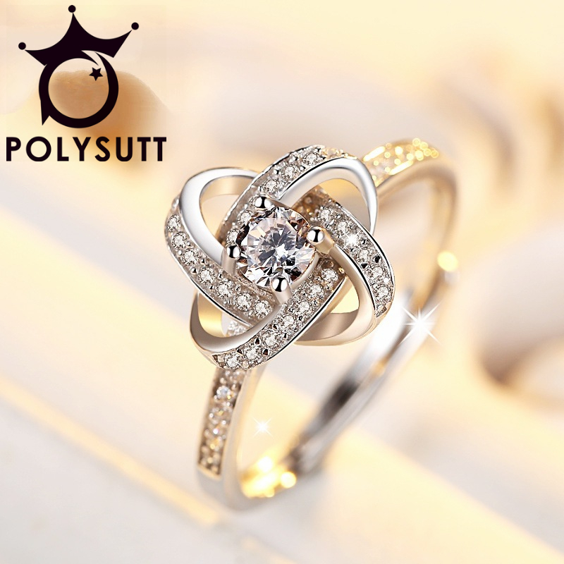 Luxury Crystal From Swarovski Ring Midi Finger Ring Engagement